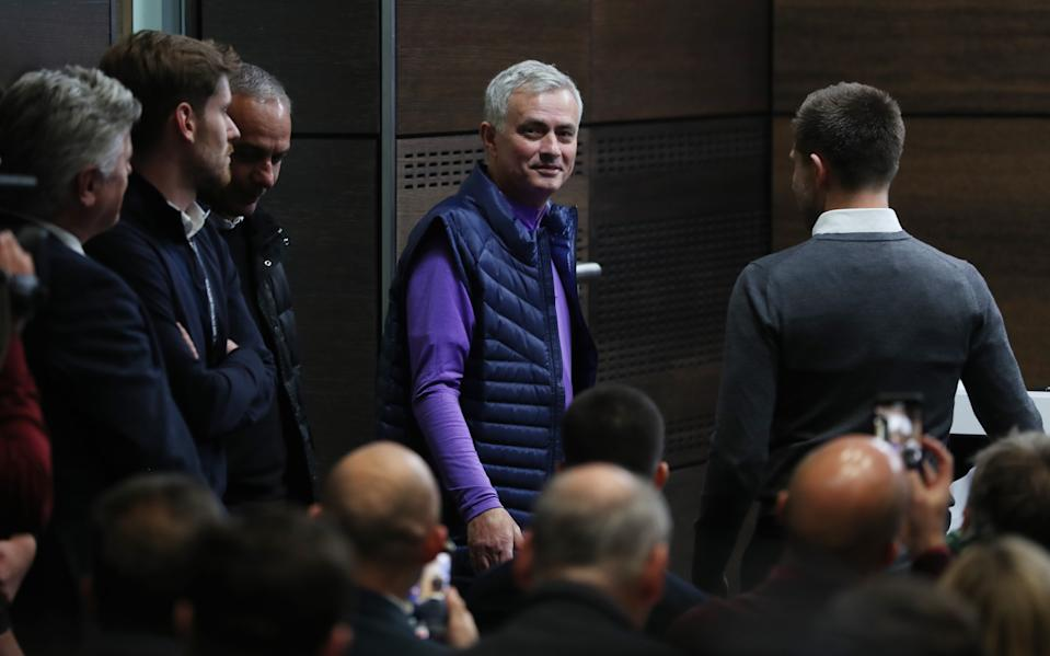 Jose Mourinho makes his return to the Premier League this weekend with Tottenham Hotspur at West Ham. (Photo by Tottenham Hotspur FC/Tottenham Hotspur FC via Getty Images)