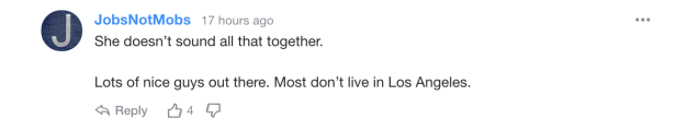 Reader comment on Miley Cyrus