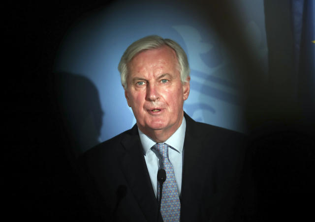 The European Commission's head of task force for relations with the UK Michel Barnier told MEPs the EU would not open financial services up for negotiations in trade talks. (AP Photo/Francisco Seco)