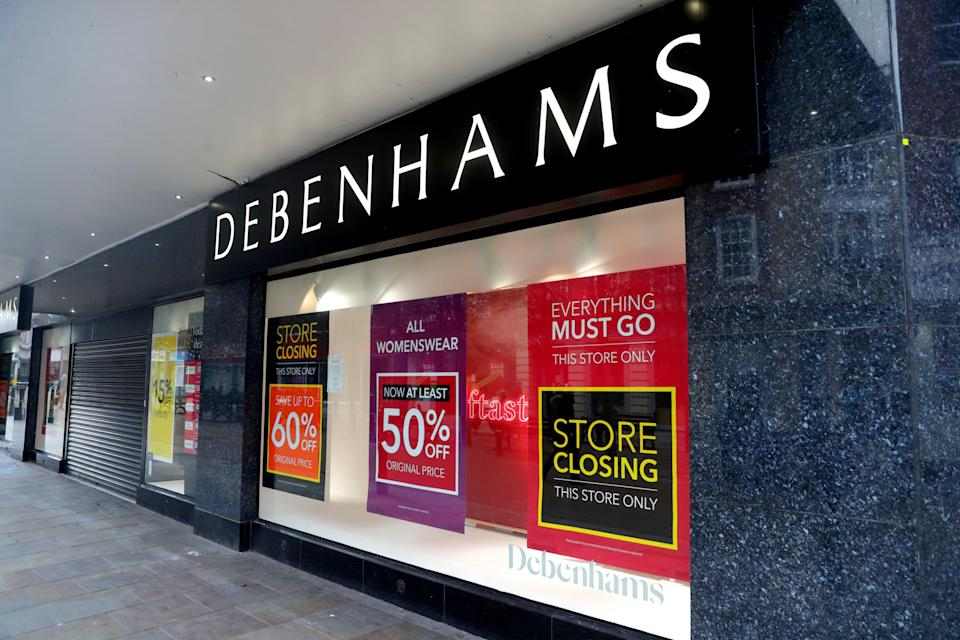 <p>Debenhams stores in the UK are closing</p> (PA Wire)