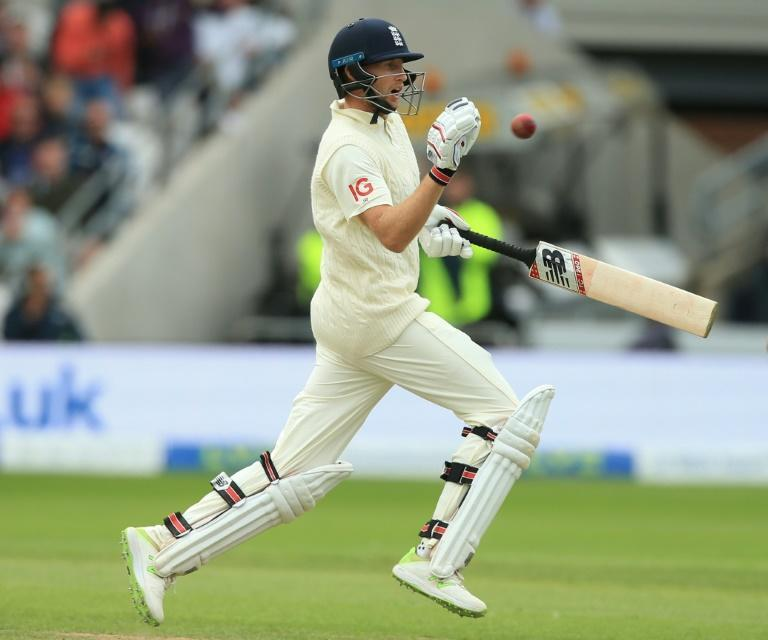 In the runs again - England captain Joe Root in action during the third Test against India at Headingley on Friday