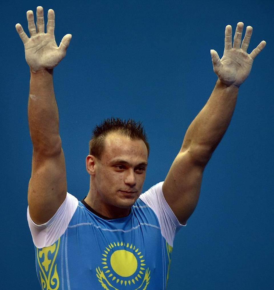 Kazakhstan's Ilya Ilyin wants to become the most successful weightlifter in history and he has already made his mark as probably the first vegetarian beefcake to win a world title (AFP Photo/Yuri Cortez)