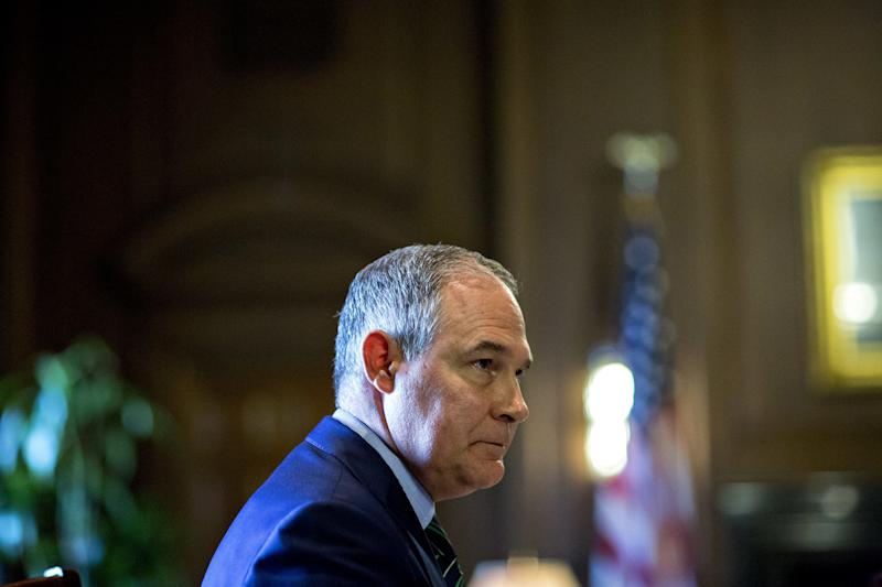 EPA Administrator Scott Pruitt is often booked into first or business class seats, often costing taxpayers thousands more than similar seats in coach. (Bloomberg via Getty Images)