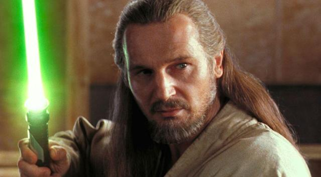 "Liam Neeson played Qui-Gon Jinn in <em>Star Wars: Episode I <span class=""s1"">—</span> The Phantom Menace.</em> (Photo: Lucasfilm)"