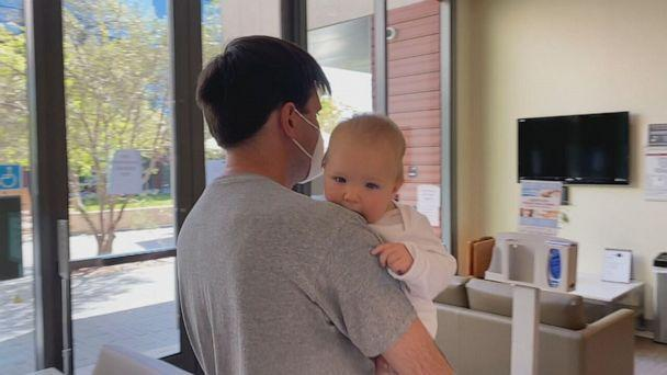 PHOTO: Soren is one of the youngest in Stanford Hospital's Pfizer trial at only 7 months old. He received his first shot last week. Good says he's doing well. (ABC)