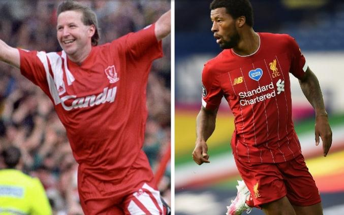 Ronnie Whelan (left) and Gini Wijnaldum (right) - EMPICS/ GETTY IMAGES