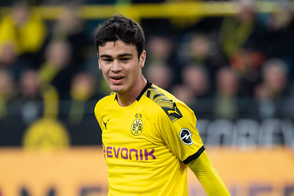 U.S. youth international Gio Reyna, pictured here against Union Berlin, scored his first goal for Borussia Dortmund on Tuesday in stunning fashion. (Photo by TF-Images/Getty Images)