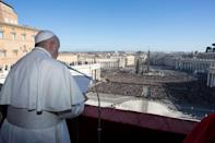 Pope Francis singled out conflicts in the Middle East, the crises in Venezuela and Lebanon, as well as unrest in many African countries