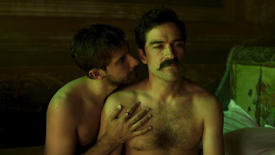 """<p>Based on a true story, this sexy Mexican romance, <a href=""""https://www.netflix.com/title/80235267"""" class=""""link rapid-noclick-resp"""" rel=""""nofollow noopener"""" target=""""_blank"""" data-ylk=""""slk:Dance of the 41""""><strong>Dance of the 41</strong></a>, tells the story of an affair between a congressman and the Mexican president - which is made illicit by the fact that the congressman is married to the president's daughter.</p>"""