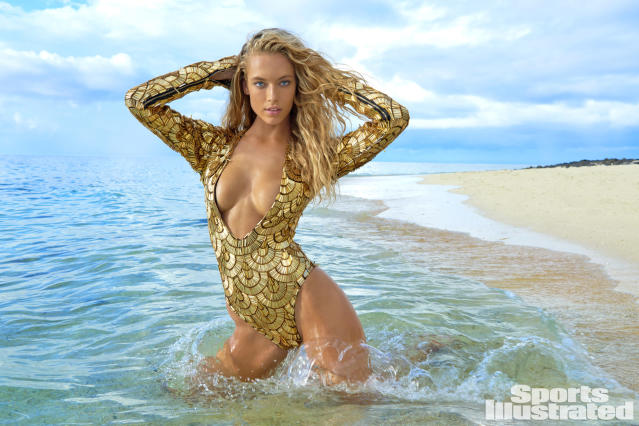 <p>Hannah Ferguson was photographed by Yu Tsai in Fiji. Swimsuit by THE BLONDS.</p>