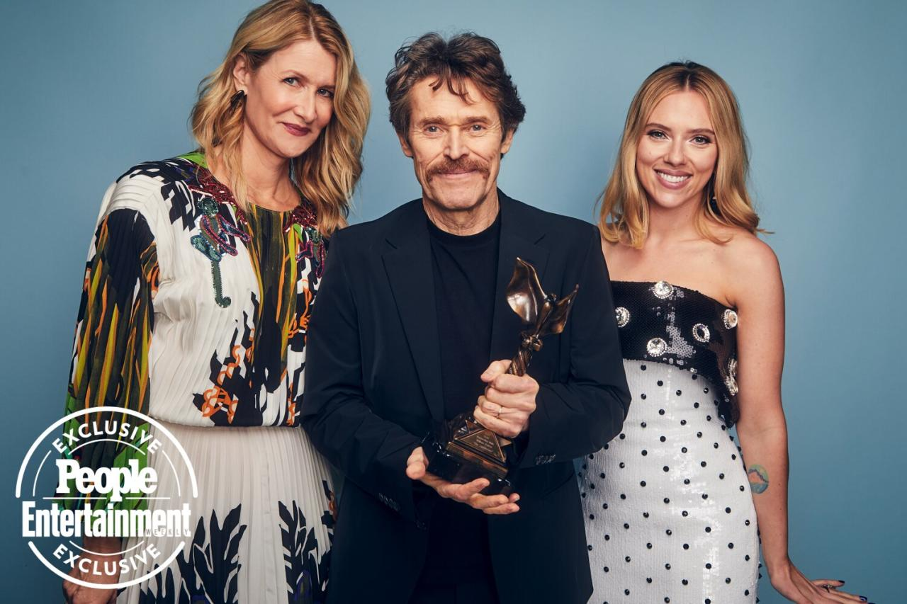 """On the eve of the Academy Awards, stars gathered by the beach in Santa Monica, Calif., to hand out the annual Film Independent Spirit Awards — with accolades going to<em>The Farewell</em>,<em>Booksmart</em>, Adam Sandler, and more. Check out <a href=""""https://ew.com/awards/2020/02/08/film-independent-spirit-awards-2020-winners-list/"""">the full list of who went home with awards</a> (which also included <em>The Lighthouse</em>'s Willem Dafoe for supporting actor and<em>Judy</em>star Renée Zellweger for lead actress), and stay here to see the winners, nominees, and presenters who stopped through EW's portrait studio."""