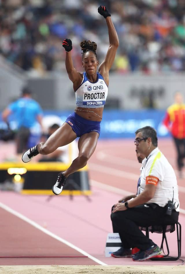 Shara Proctor booked her place in the long jump final (Martin Rickett/PA).