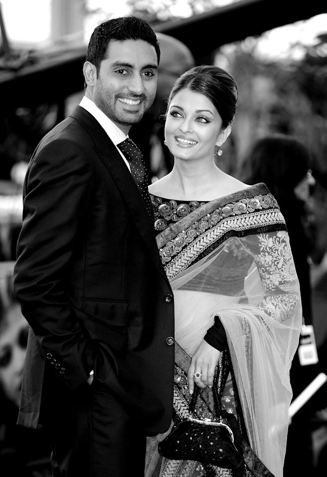 Abhishek Bachchan and Aishwarya Rai Bachchan at the World Premiere of 'Raavan' at the BFI Southbank in London, England. (Image: Getty Images)