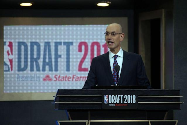 NBA commissioner Adam Silver will not be welcoming high school players to the league for at least a few more years. (Getty Images)