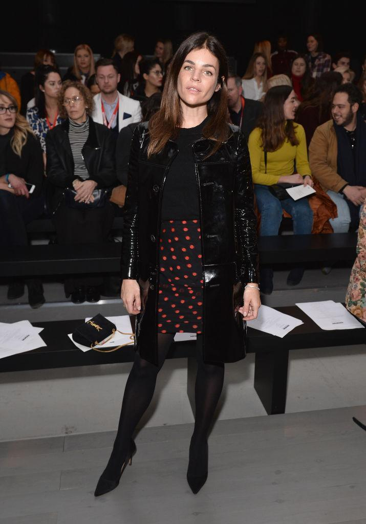 <p>Julia Restoin Roitfeld donned this season's most-coveted print, polka dots' before joining the FROW at the Marta Jakubowski show. <em>[Photo: Getty]</em> </p>