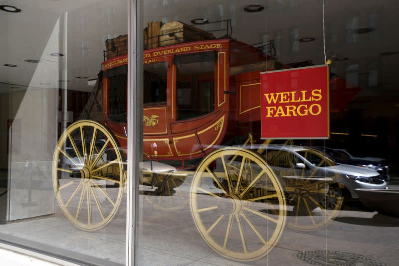 FILE PHOTO: An 1860's era stagecoach is displayed at the Wells Fargo & Co. bank in downtown Denver