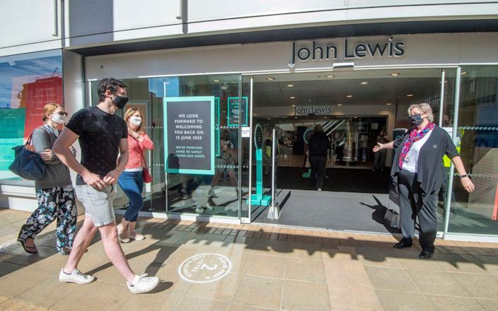 The John Lewis store in Kingston reopened on Monday