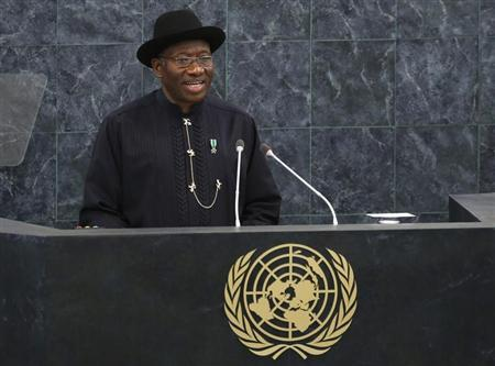 Nigeria's President Goodluck Jonathan addresses the 68th United Nations General Assembly at U.N. headquarters in New York