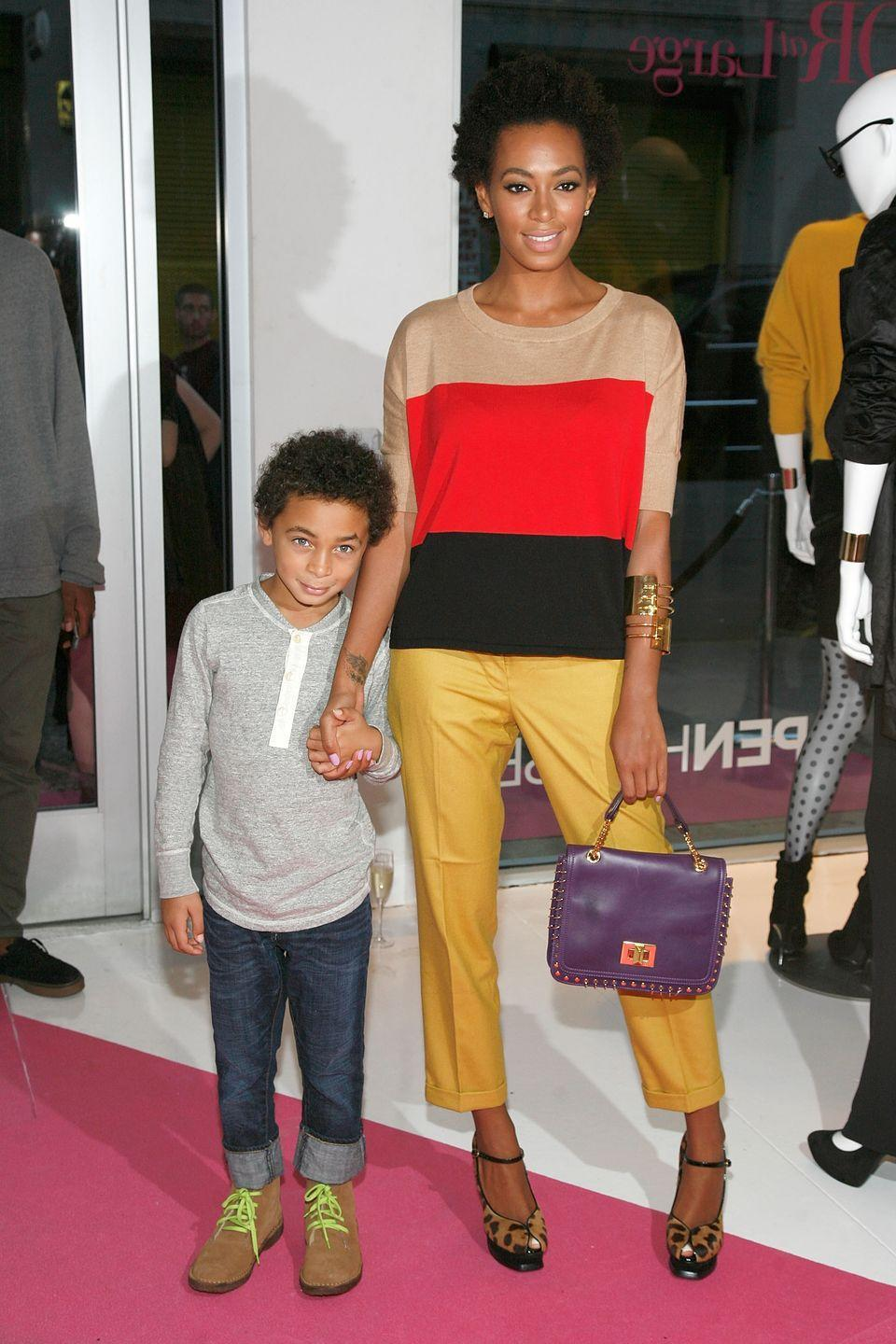 """<p>Blue Ivy has an older cousin—his name is Daniel Julez Smith. Beyoncé's younger sister Solange Knowles gave birth to her first child in 2004 <a href=""""https://www.biography.com/people/solange-21265489"""" rel=""""nofollow noopener"""" target=""""_blank"""" data-ylk=""""slk:when she was 18 years old"""" class=""""link rapid-noclick-resp"""">when she was 18 years old</a> and married to Daniel Smith. Not long after they got hitched, the couple welcomed their son, who was named after his father. However the two divorced in 2007.</p>"""