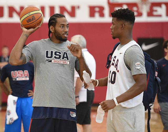 Is Jimmy Butler maneuvering to team up with Kawhi Leonard in LA. in 2019? (Getty)