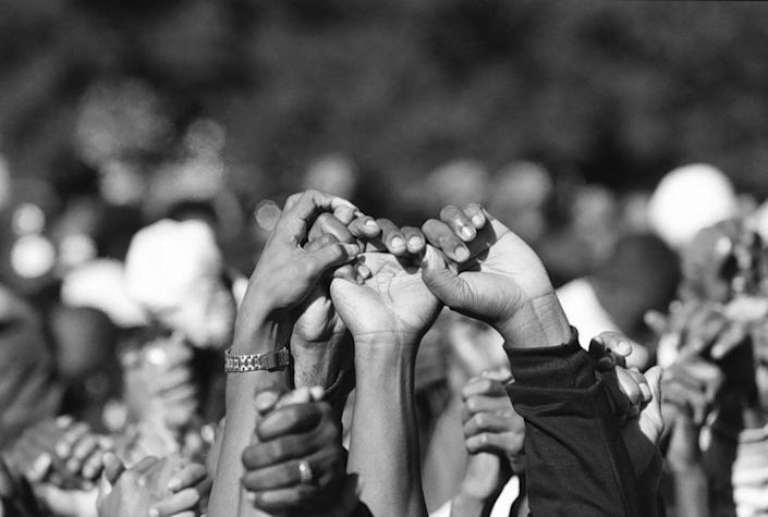 10/16/95 The Million Man March. (Photo by Bill O'Leary/The The Washington Post via Getty Images)