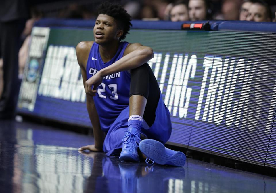 Justin Patton, a 7-foot center, averaged 12.9 points, 6.2 rebounds and 1.4 blocks in 35 games for Creighton this season. (AP)