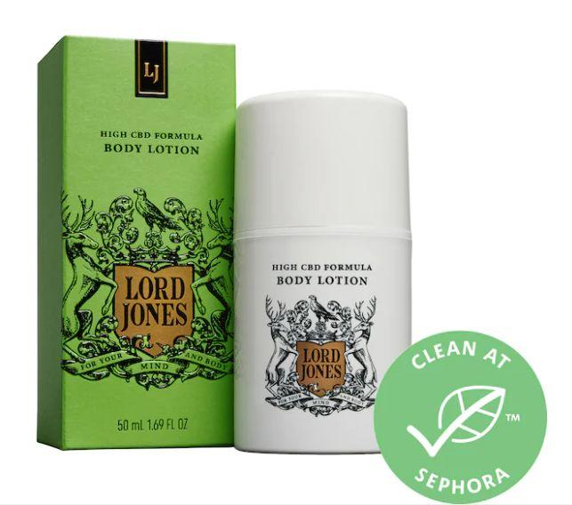 """Get this <a href=""""https://fave.co/34C9Uk4"""" target=""""_blank"""" rel=""""noopener noreferrer"""">Lord Jones High CBD Formula Body Lotion on sale</a>(normally $40) during Sephora's Holiday Savings Event with code<strong>HOLIDAYFUN</strong>at checkout."""
