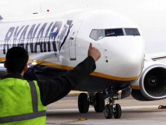 Ryanair came in joint last place with Vueling with a customer score of 45% (Danny Lawson/PA)