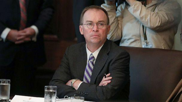 PHOTO:Acting White House Chief of Staff Mick Mulvaney listens during a cabinet meeting held by President Donald Trump at the White House, Oct. 21, 2019. (Leah Millis/Reuters)