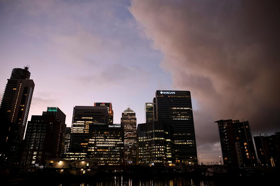 Brexit has cast a shadow over City of London's financial titans including its banks that make the skyline of London's Canary Wharf, above. Photo: Tolga Akmen/AFP via Getty Images