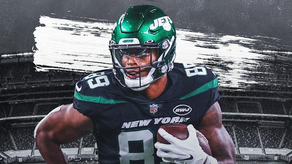 Chris Herndon Treated Image with black and green jersey