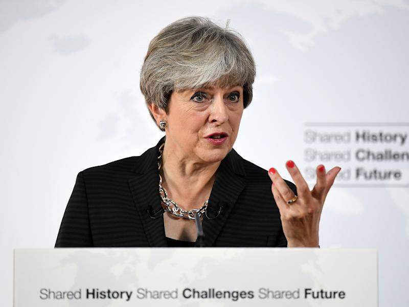 Theresa May's speech in Florence had been well received, but its key objective has been rejected by France and Germany: PA Wire/PA Images
