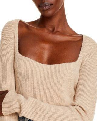 <p>This <span>Vince Cashmere Square-Neck Sweater</span> ($345) looks super soft.</p>