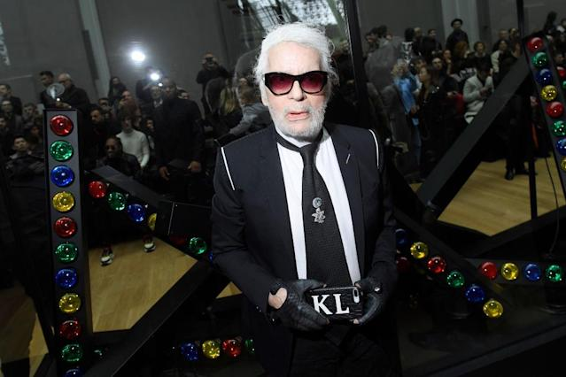 Karl Lagerfeld has changed his signature aesthetic for the first time in 20 years. (Photo: Getty)