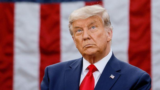 PHOTO: President Donald Trump delivers an address from the Rose Garden at the White House in Washington, Nov. 13, 2020. (Carlos Barria/Reuters, FILE)