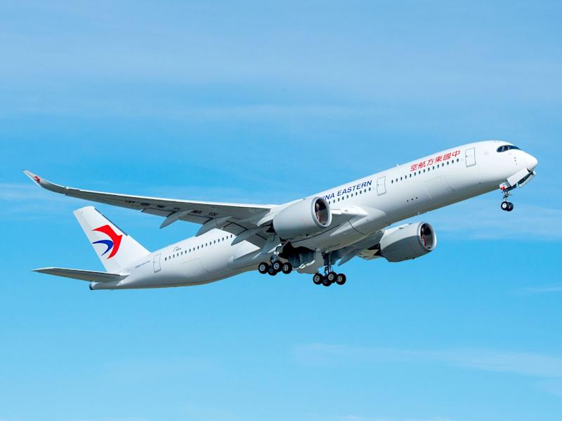 China Eastern Airbus A350 900 take off