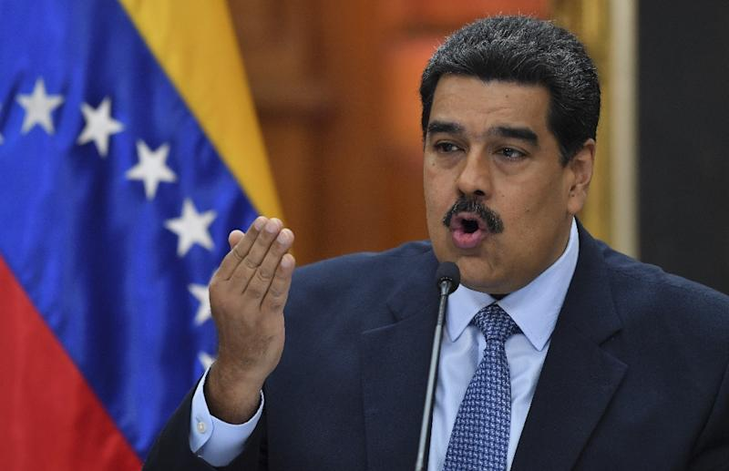 Venezuela's President Nicolas Maduro was sworn in for a second six-year term under a cloud of skyrocketing inflation, shortages of basic food and medicine and an exodus of Venezuelans to neighboring countries