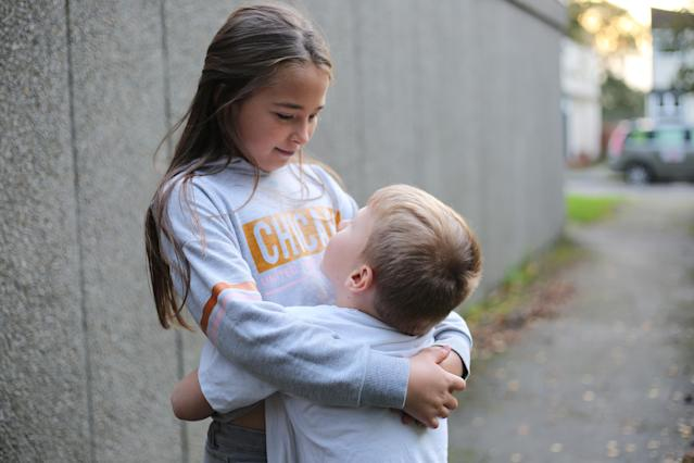 Living in poverty: Courtney, aged 8 and brother Nathanial, 5. Channel 4