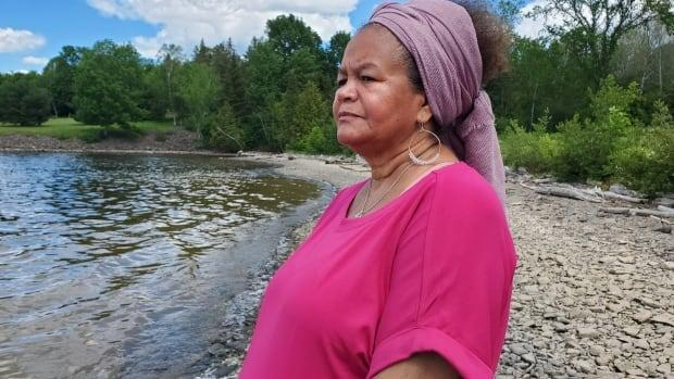 Mary Louise McCarthy-Brandt says the province's preparations for the Mactaquac Dam west of Fredericton led to the desecration of her ancestors' graves. (Shane Fowler CBC - image credit)