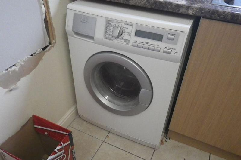 The washing machine which the cat died in. (RSPCA)