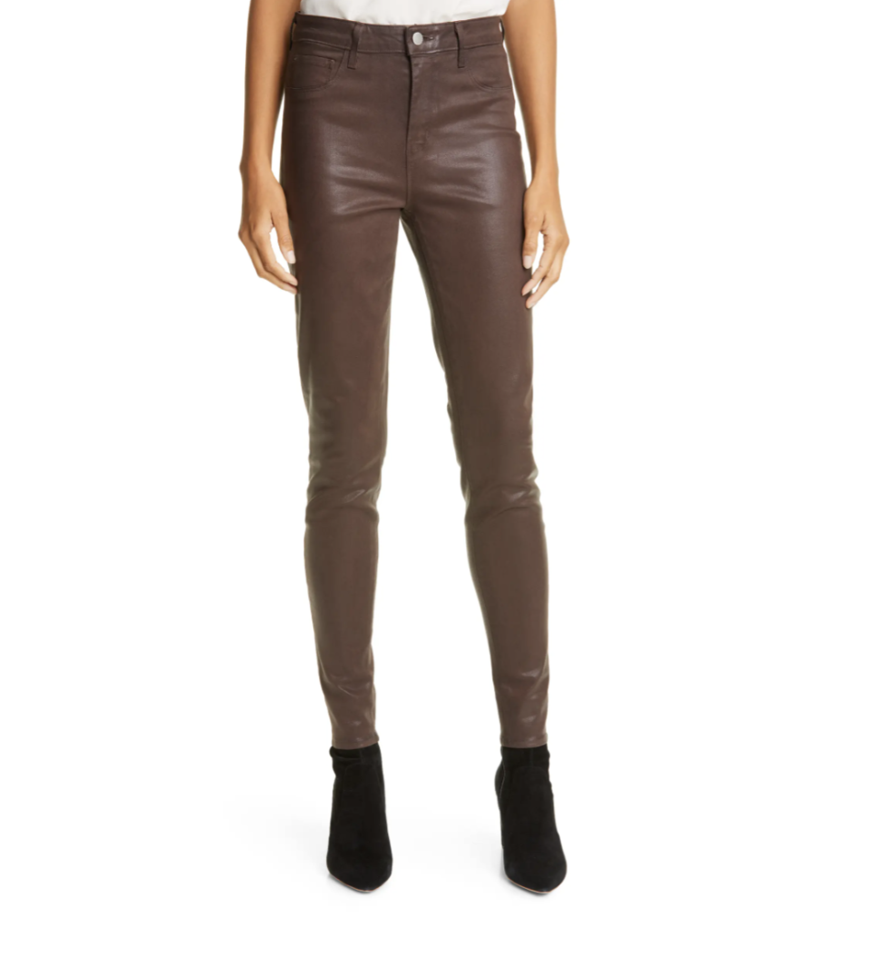 Kristin Cavallari wore a pair of Marguerite Coated High Waist Skinny Jeans by L'Agence. On sale at Nordstrom, $186 (originally $265).