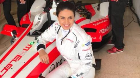Gul Panag Becomes First Indian woman to Drive Formula E Racing Car