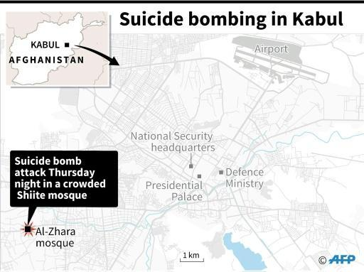 Four dead as suicide bombers hit Kabul Shiite mosque
