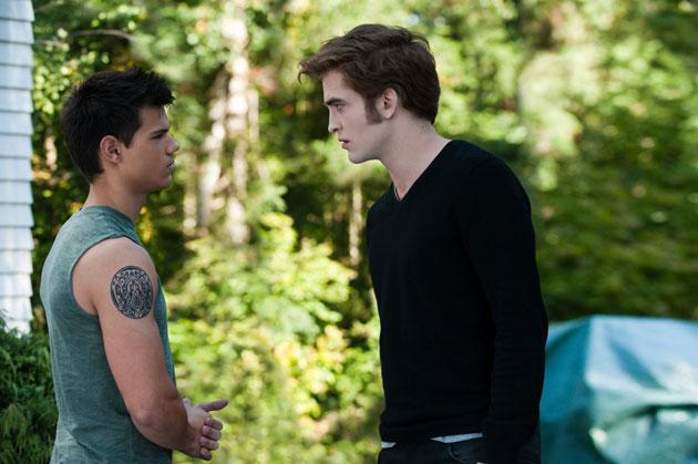 Twilight Sexiest Moments: Edward and Jacob square up in Eclipse as the love triangle intensifies.