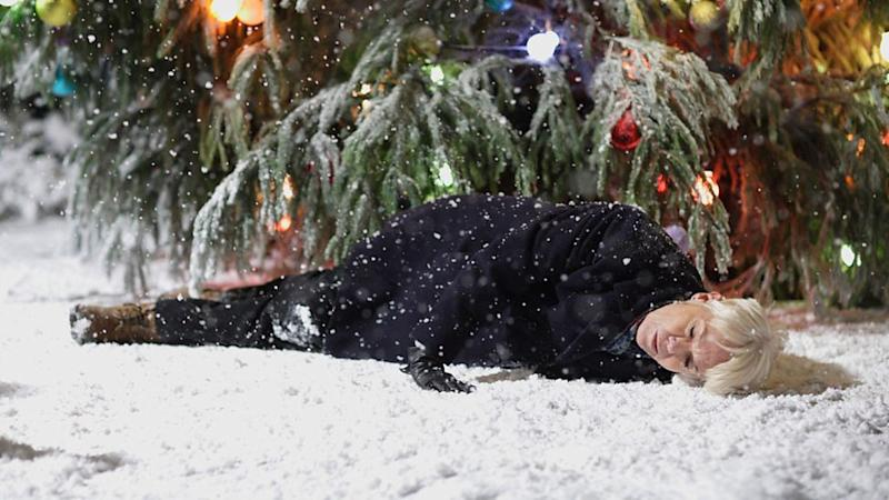 Pauline died underneath the Albert Square Christmas tree. (BBC)