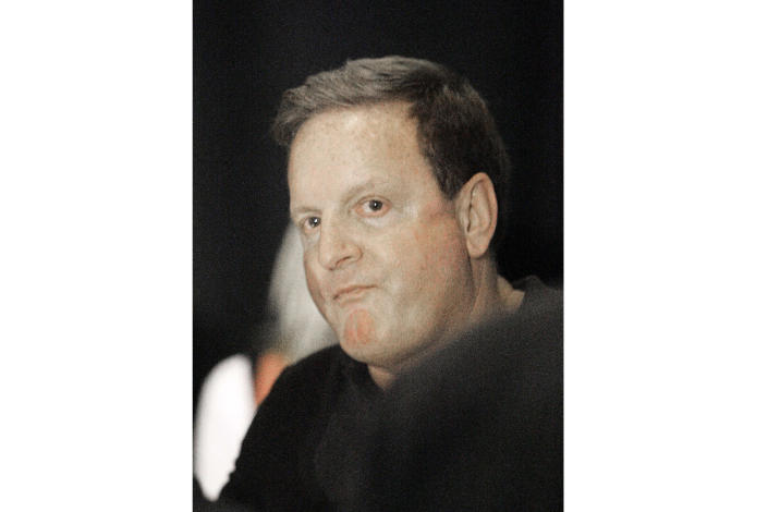 FILE - This March 13, 2007 file photo shows Pittsburgh Penguins co-owner Ron Burkle in Pittsburgh. Burkle's adult son Andrew has been found dead at his home in Beverly Hills, Calif. The Burkle family says in a statement to People magazine that Andrew Burkle died Monday, Jan. 6, 2020. (AP Photo/Keith Srakocic, File)