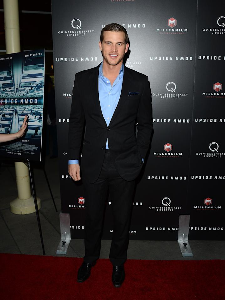 """HOLLYWOOD, CA - MARCH 12:  Actor Matt Nordgren arrives at a special LA screening of Millennium Entertainment's """"Upside Down"""" at ArcLight Hollywood on March 12, 2013 in Hollywood, California.  (Photo by Jason Merritt/Getty Images)"""
