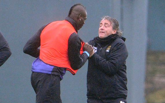 Image result for mario balotelli fight mancini