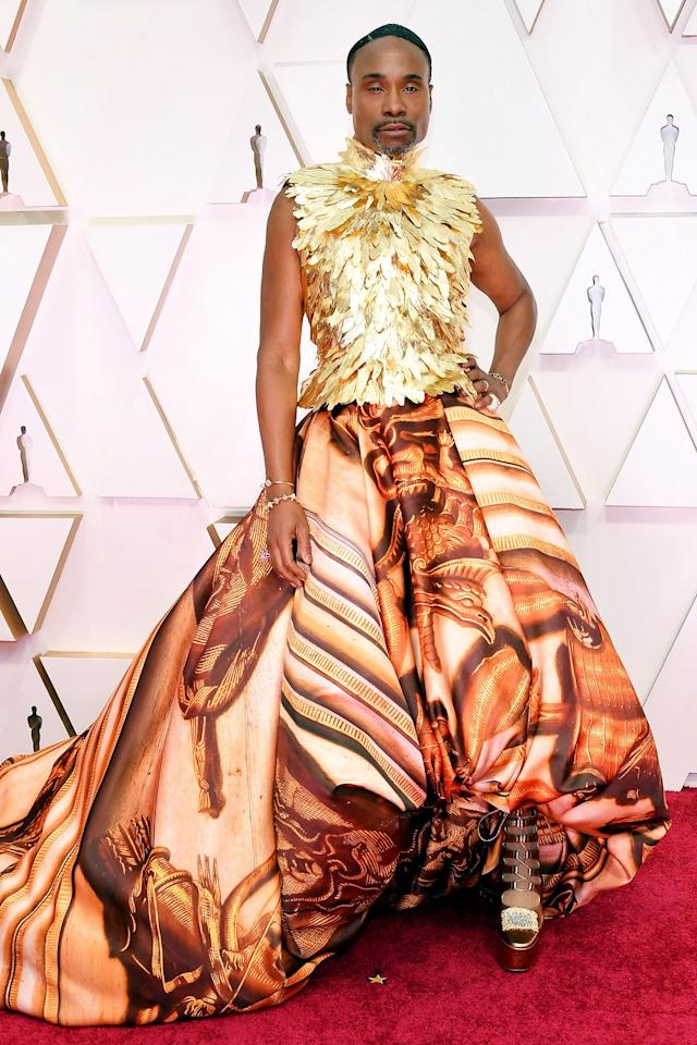 Wearing Giles Deacon Couture.