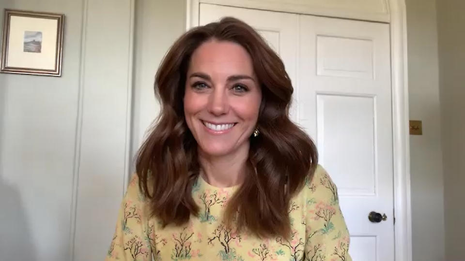 Undated handout videograb issued by Kensington Palace of the Duchess of Cambridge being interviewed on ITV's This Morning, speaking about her new photographic project Hold Still.